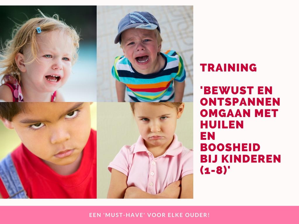 training bewust en ontspannen omgaan met huilen en boosheid bij kinderen 1-8
